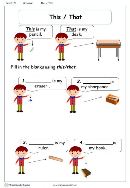 English worksheet: THIS OR THAT | ????????????? | Pinterest ...