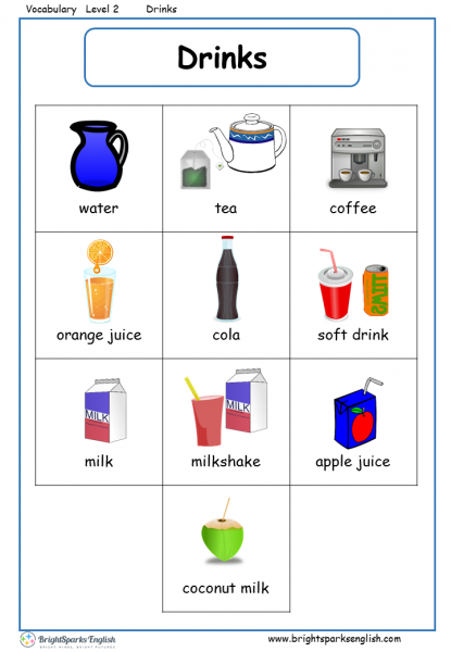 Vocabulary Food And Drink