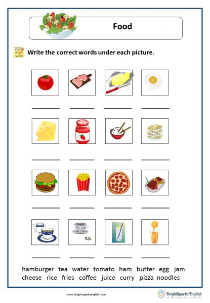 Food english vocabulary worksheet english treasure trove food english vocabulary worksheet ibookread Download