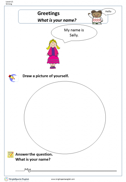 What Is Your Name Worksheet English Treasure Trove