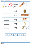 Word Family am Word Grids English Phonics Worksheet – English ...