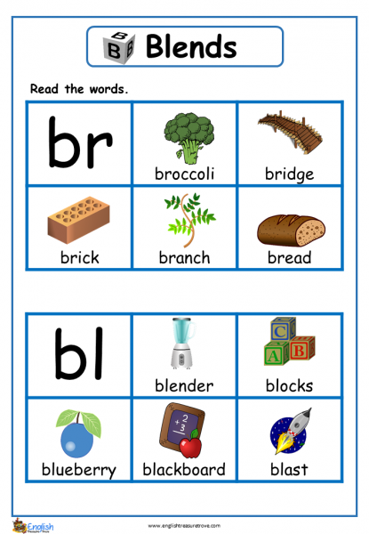 Letter Words With Blends