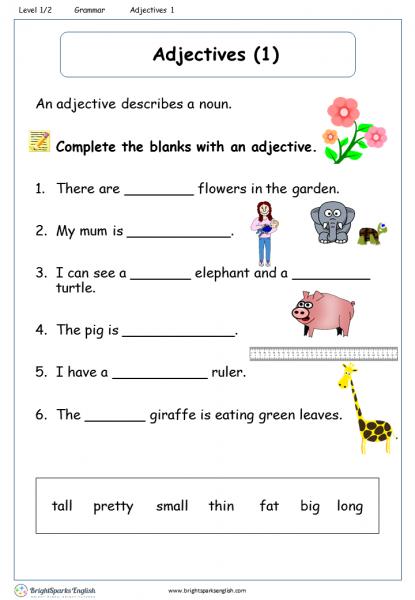Adjectives 1 Level 1