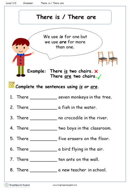 There Is There Are Worksheet – English Treasure Trove