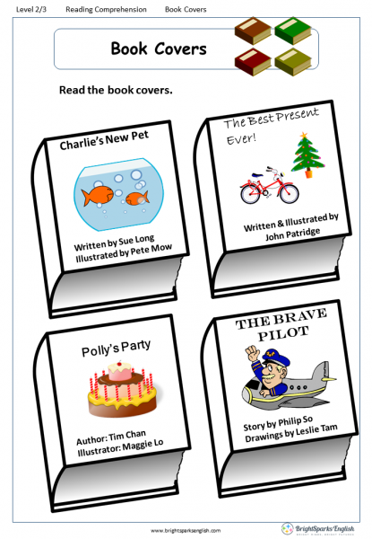 reading comprehension Level 2 Book Covers