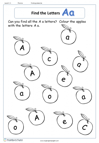 find the letters – Aa