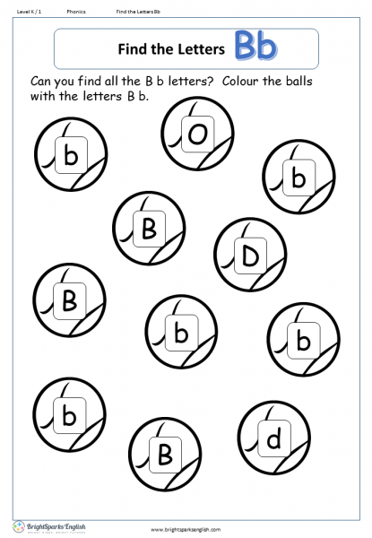 find the letters – Bb