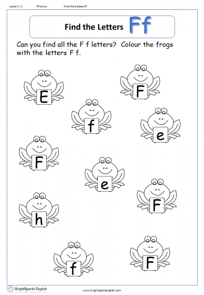 find the letters – Ff