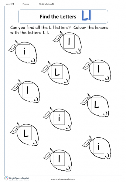 find the letters – Ll