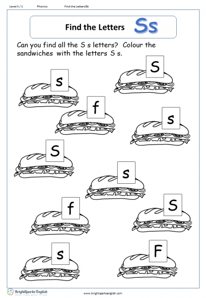find the letters – Ss