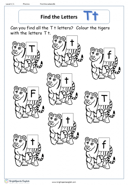find the letters – Tt