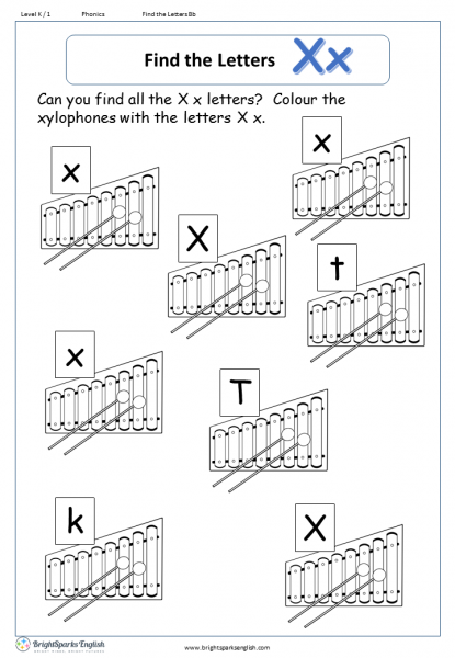 find the letters – Xx
