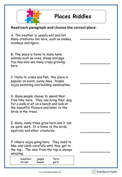 riddles english language worksheet english treasure trove. Black Bedroom Furniture Sets. Home Design Ideas