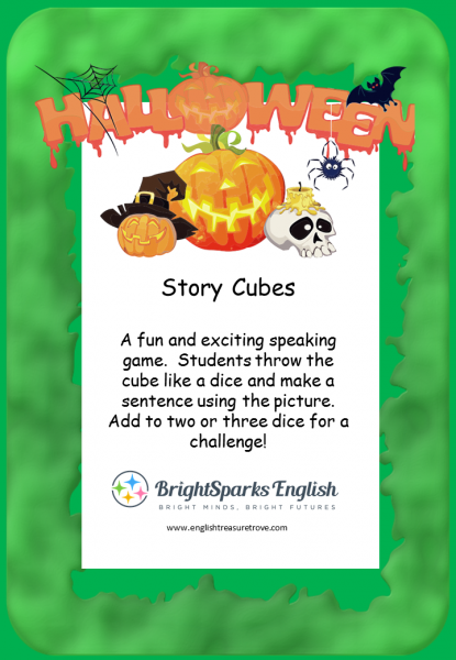 halloween story cubes