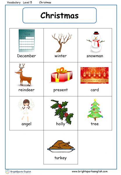 Vocab level 5 Christmas