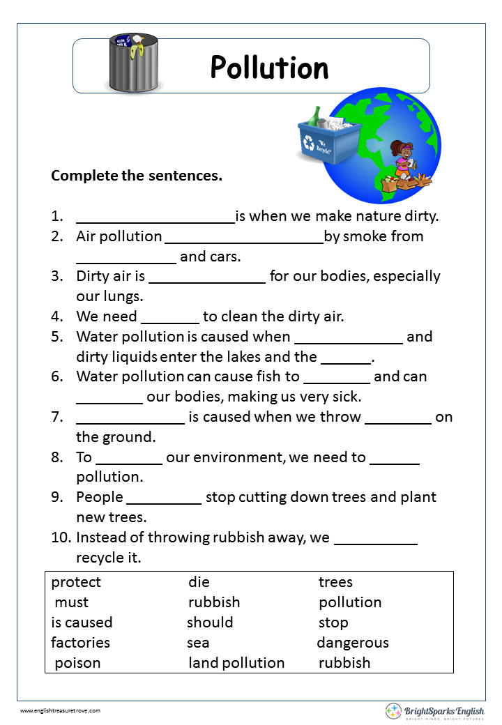 Water Pollution Worksheet by Jessica DiMizio | Teachers Pay Teachers