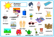 summer word mat