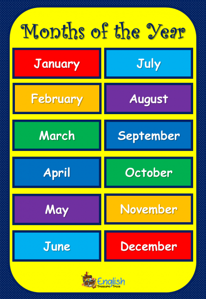 months of the year poster a4 – Copy