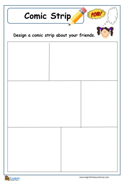 Comic book worksheet