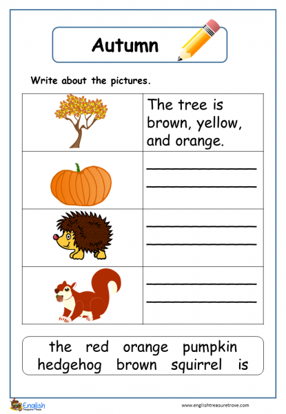 autumn writing k12